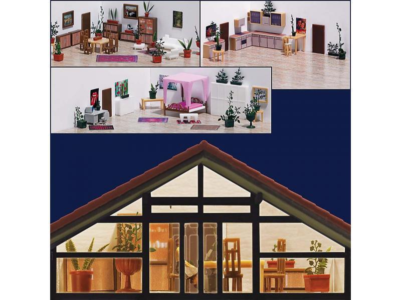 einrichtungs set busch modellspielwaren 1141. Black Bedroom Furniture Sets. Home Design Ideas