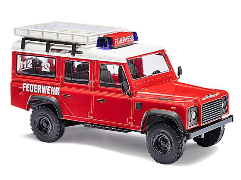 land rover defender feuerwehr busch modellspielwaren 50321. Black Bedroom Furniture Sets. Home Design Ideas